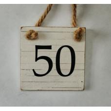 50 mini tabuľka