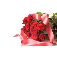 Kytica Červená elegancia (30ks ruží)