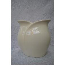 Vaza  krémova keramická
