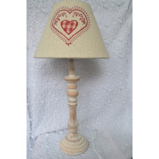 Nočná lampa  plátno srdce