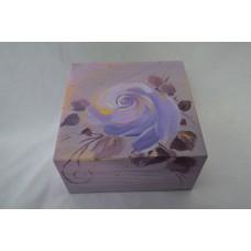 Krabička fialova ruža malá