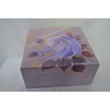 Krabička fialova ruža veľká