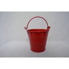 Kvetináč kýblik červený