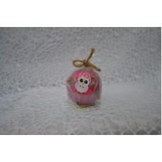 Sviečka dekoračná červena sova guľa