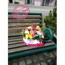 Kvetinový box multicolors love
