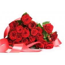 Kytica Červená elegancia (50ks ruží)