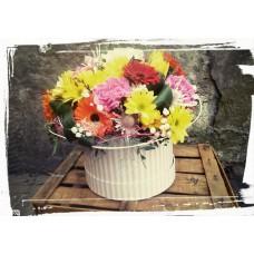 Kvety v krabičke Farebná nálada