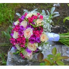 Svadobná kytice pestrosť pre umeleckosť