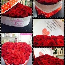 Červené ruže v boxe Love Eny´s Style