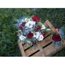 Svadobná kytica červená dokonalosť